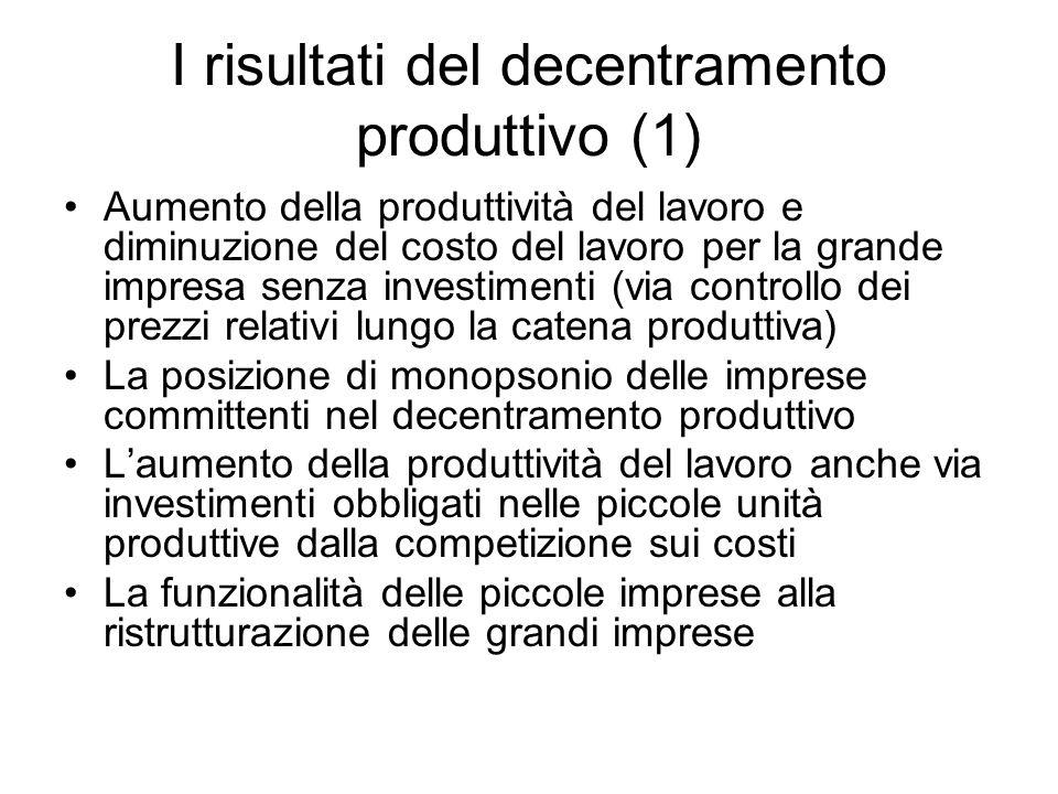 I risultati del decentramento produttivo (1)
