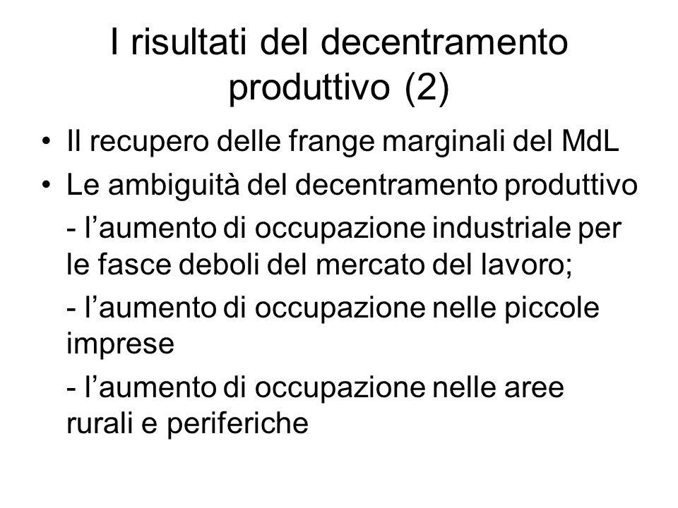 I risultati del decentramento produttivo (2)