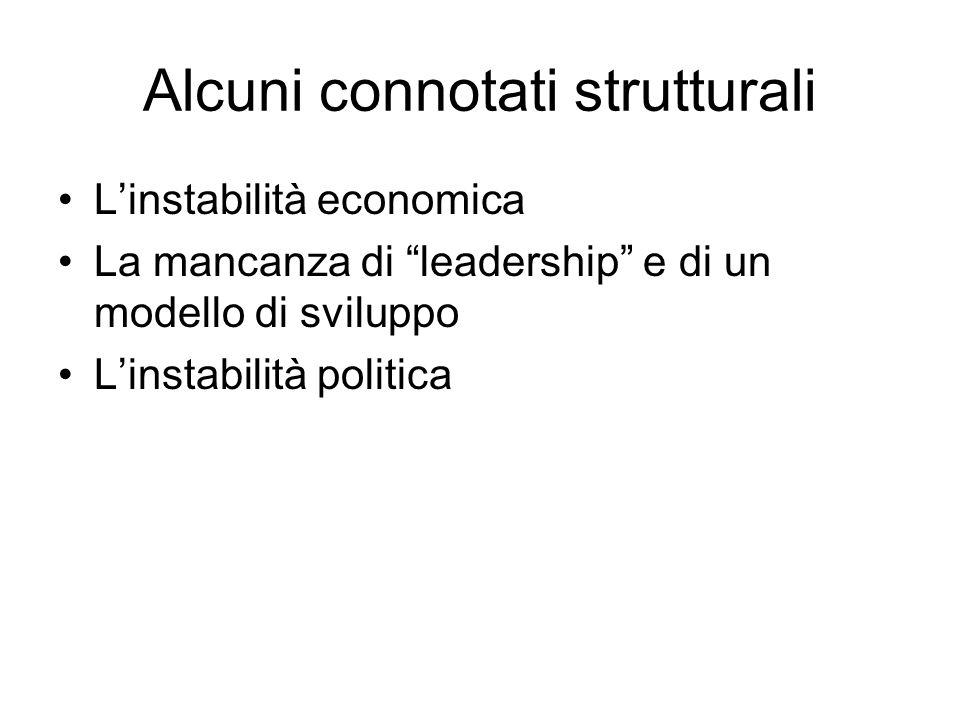 Alcuni connotati strutturali