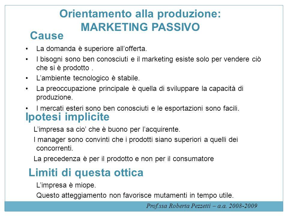 Orientamento alla produzione: