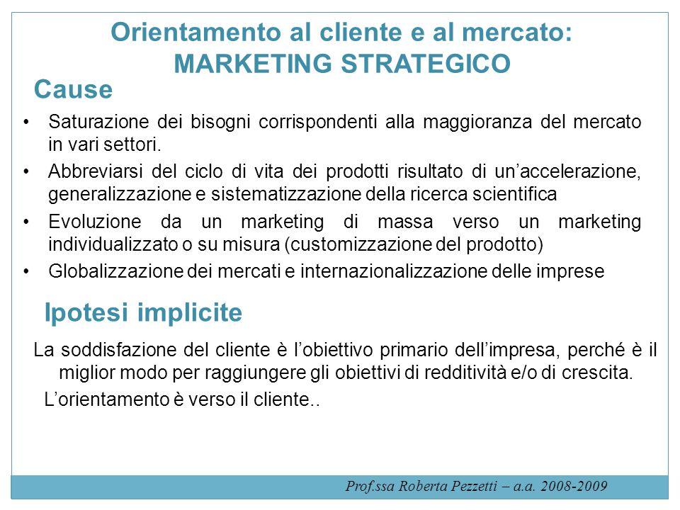 Orientamento al cliente e al mercato: