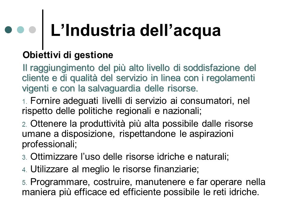 L'Industria dell'acqua