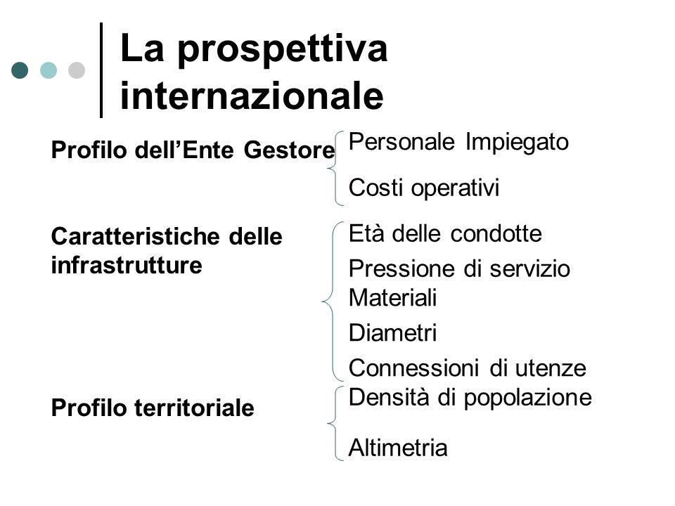 La prospettiva internazionale