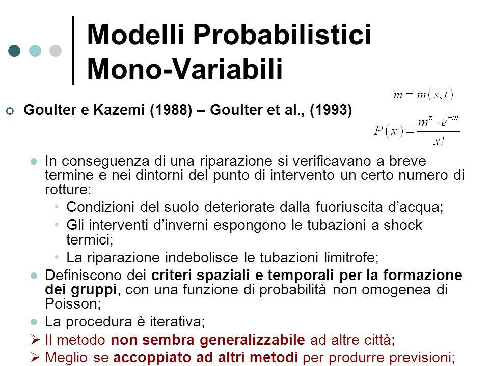 Modelli Probabilistici Mono-Variabili