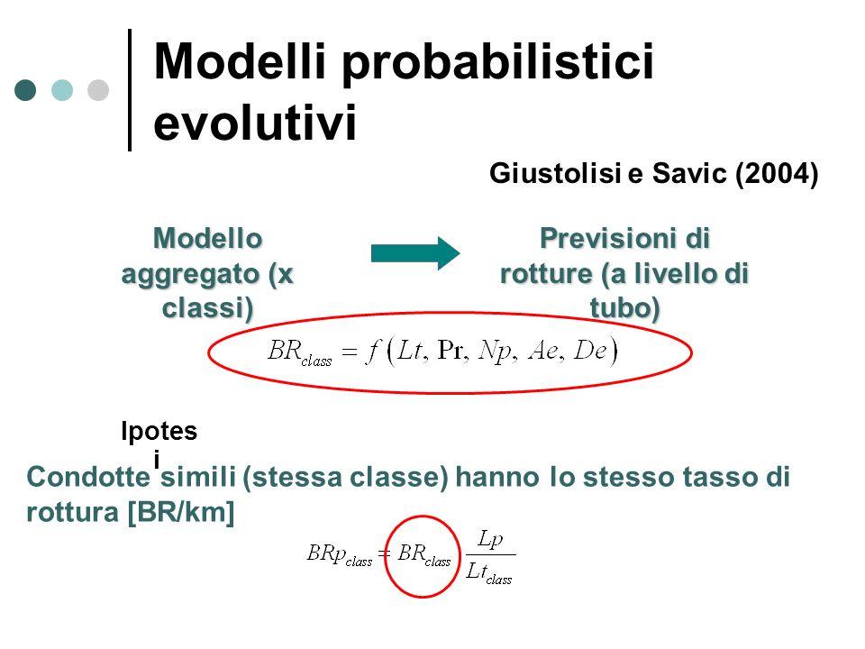 Modelli probabilistici evolutivi