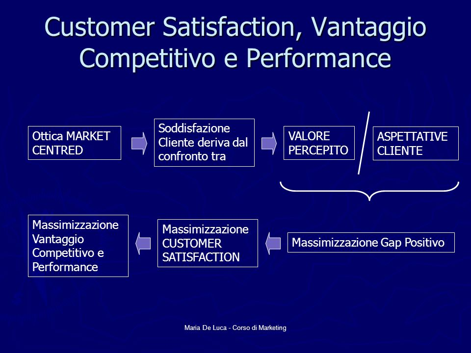 Customer Satisfaction, Vantaggio Competitivo e Performance