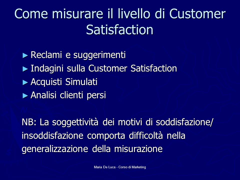 Come misurare il livello di Customer Satisfaction