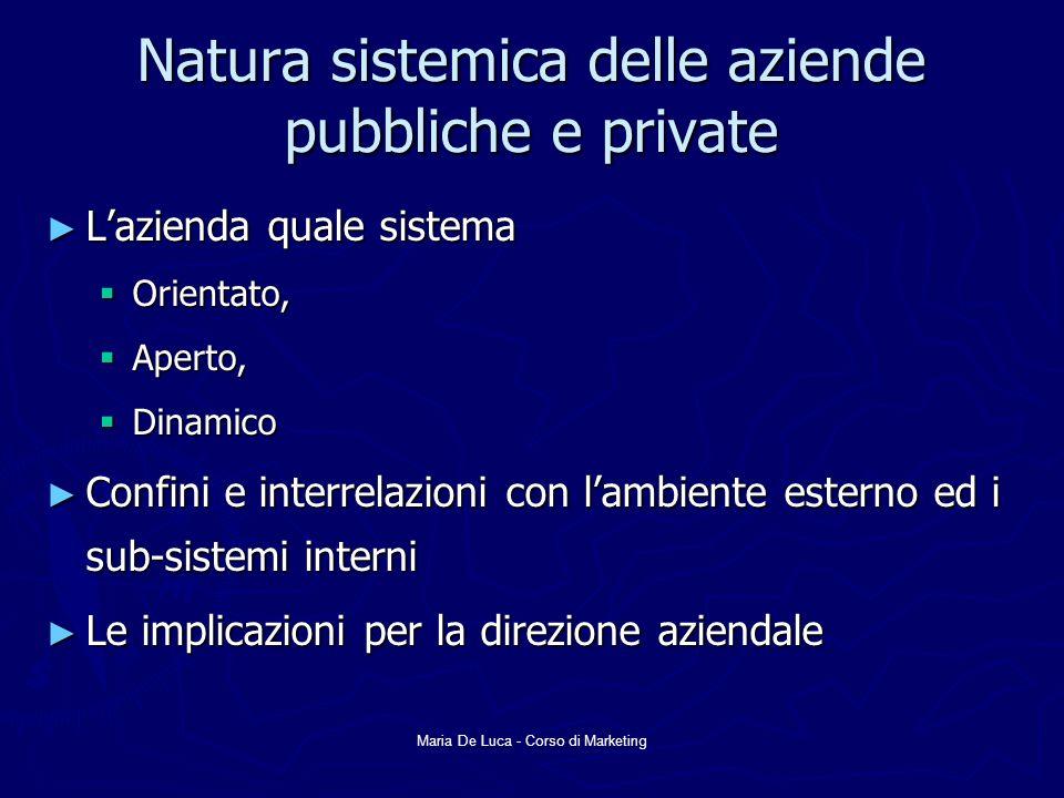 Natura sistemica delle aziende pubbliche e private