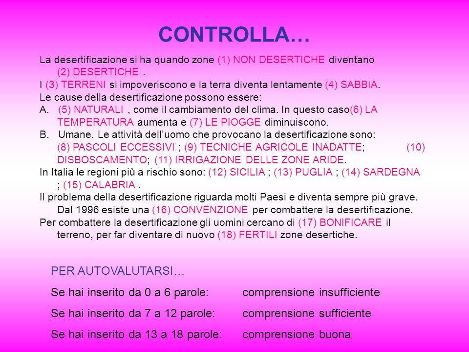 CONTROLLA… PER AUTOVALUTARSI…