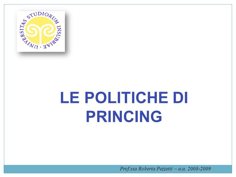 LE POLITICHE DI PRINCING