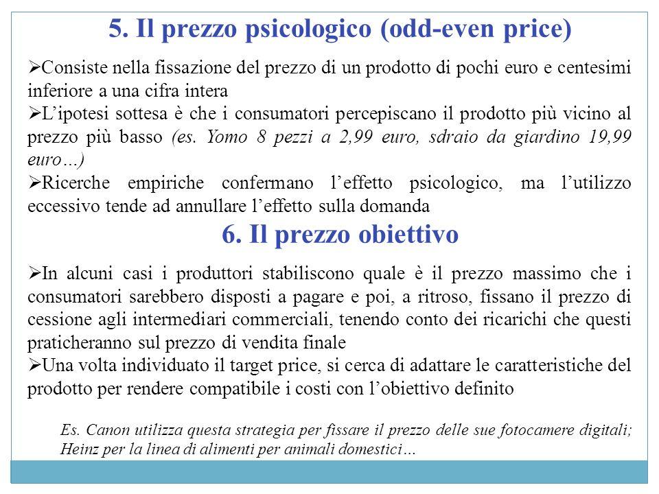 5. Il prezzo psicologico (odd-even price)