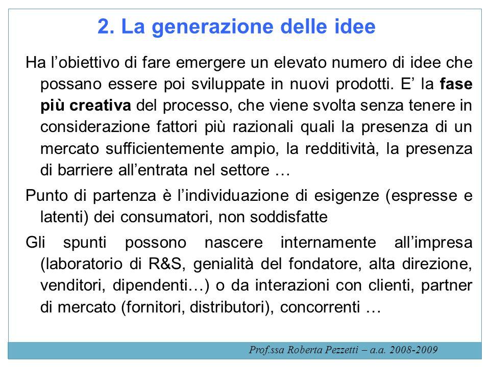 2. La generazione delle idee