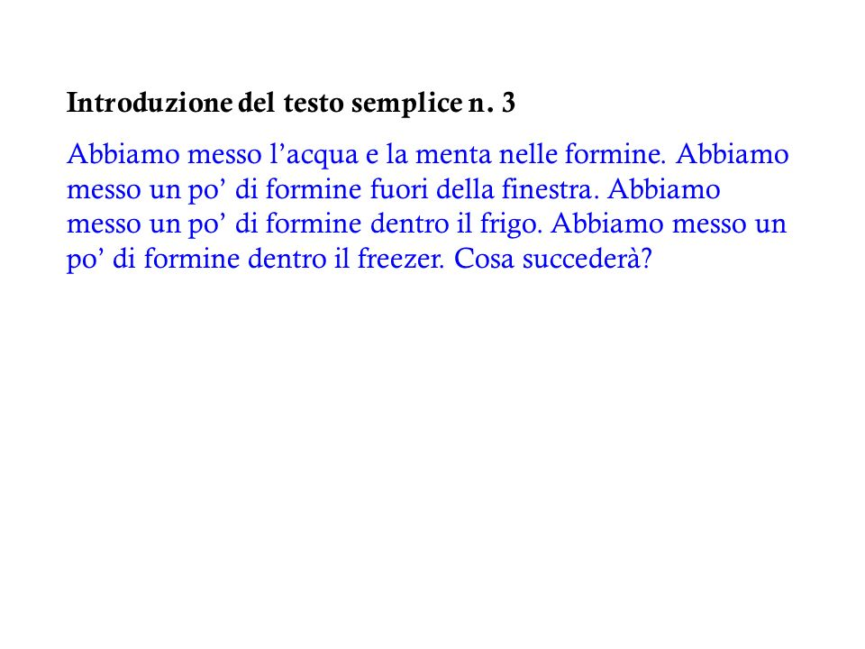 Introduzione del testo semplice n. 3