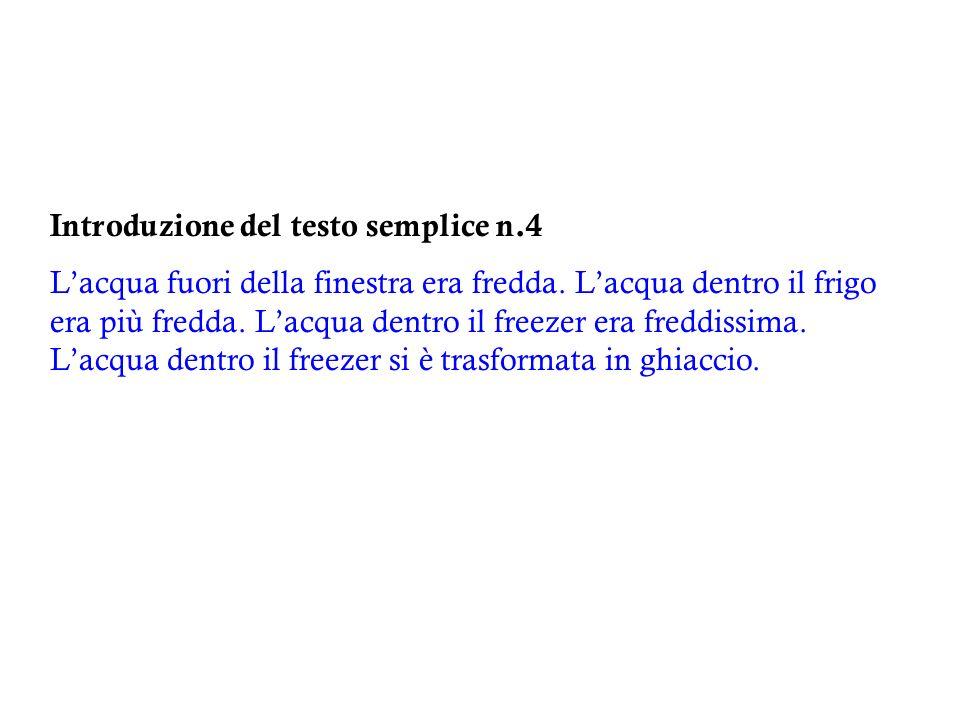Introduzione del testo semplice n.4