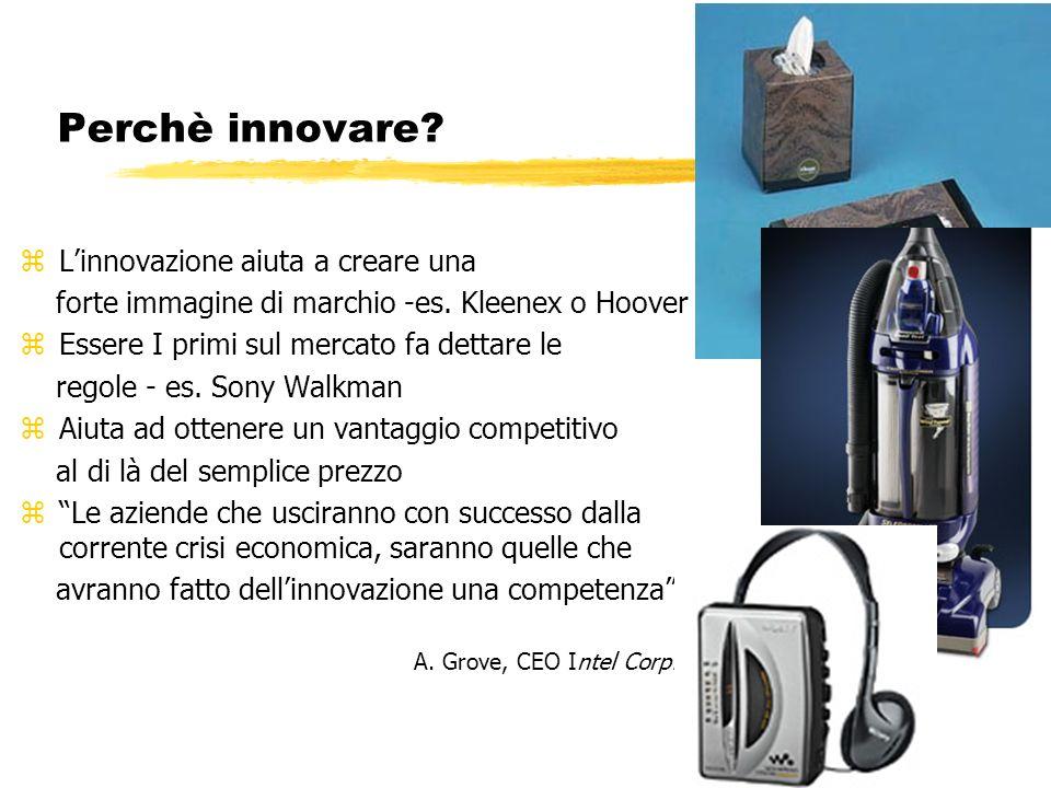 Perchè innovare L'innovazione aiuta a creare una
