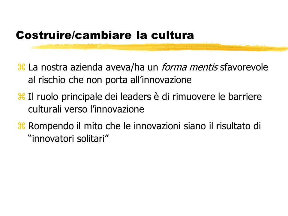 Costruire/cambiare la cultura
