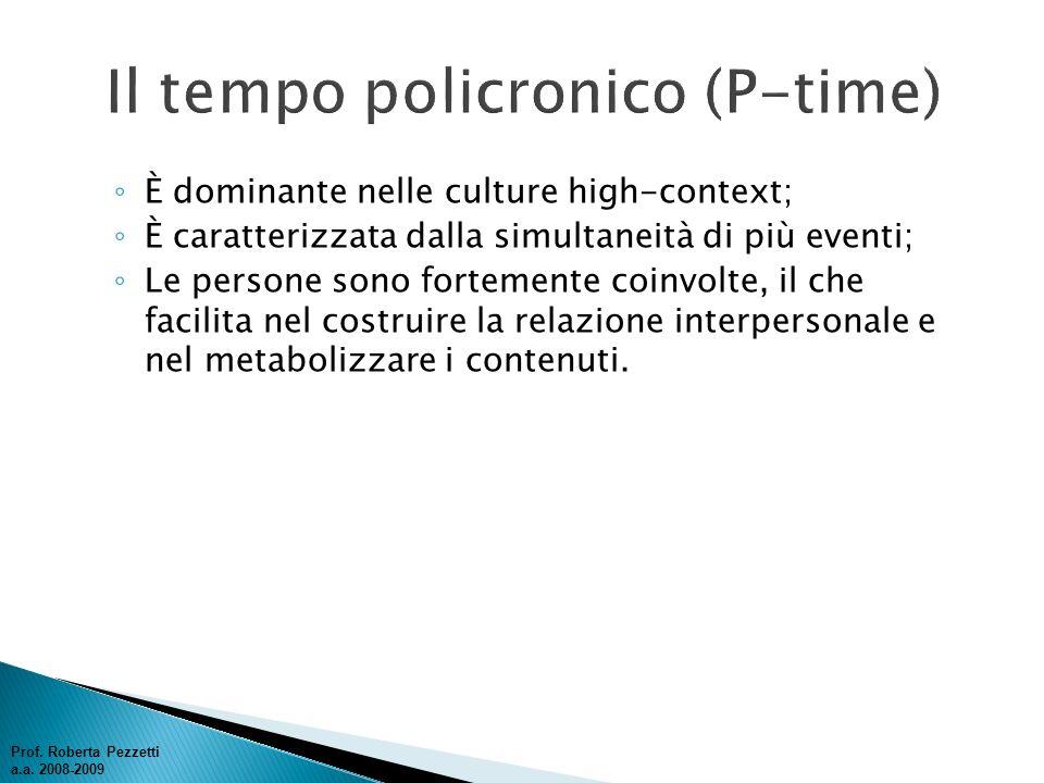 Il tempo policronico (P-time)