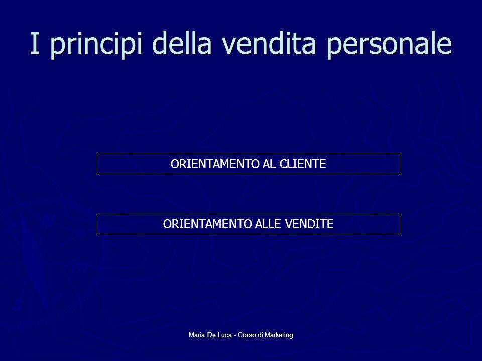 I principi della vendita personale