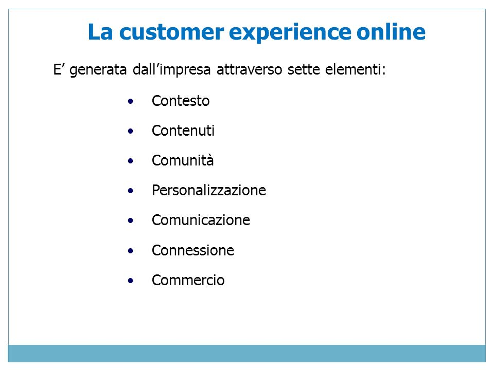 La customer experience online