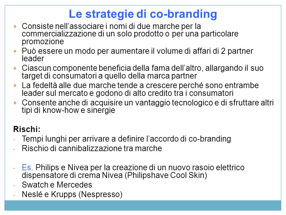 Le strategie di co-branding