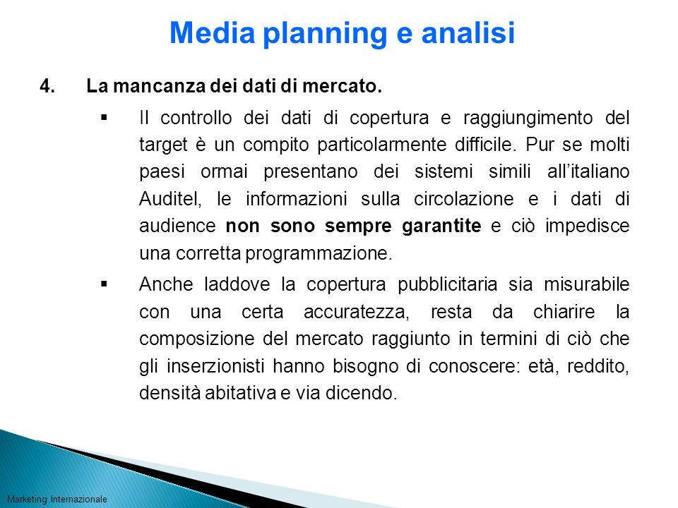 Media planning e analisi