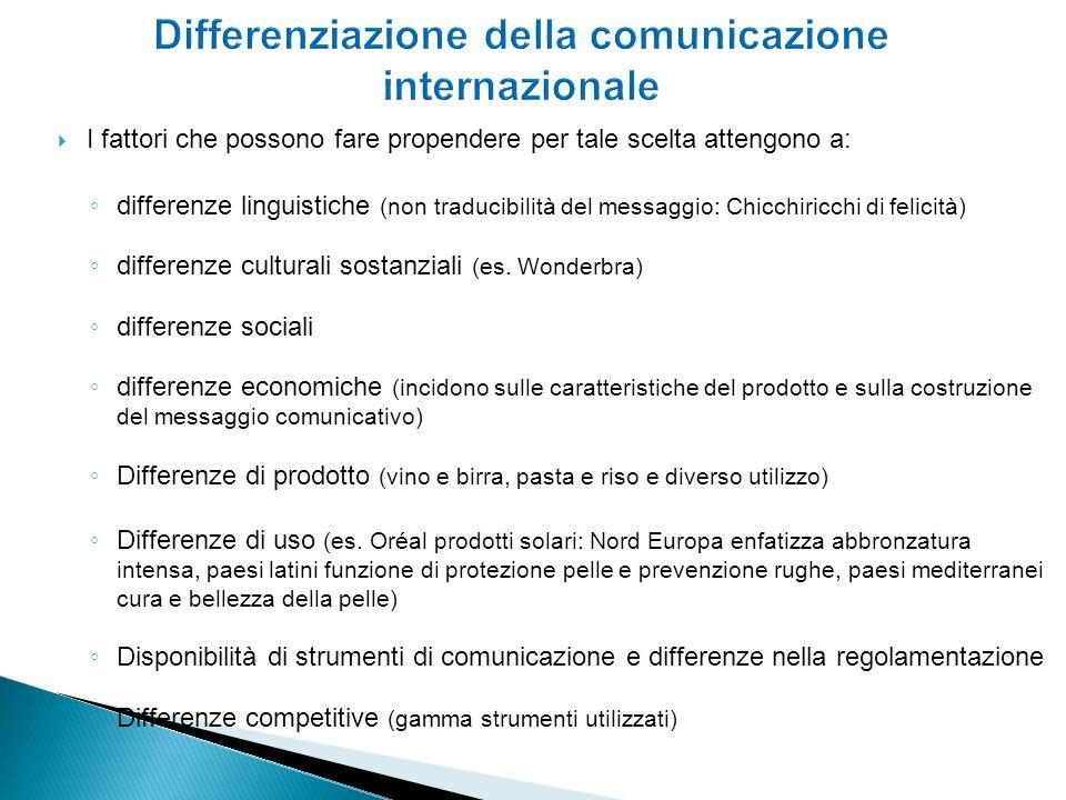 Differenziazione della comunicazione internazionale
