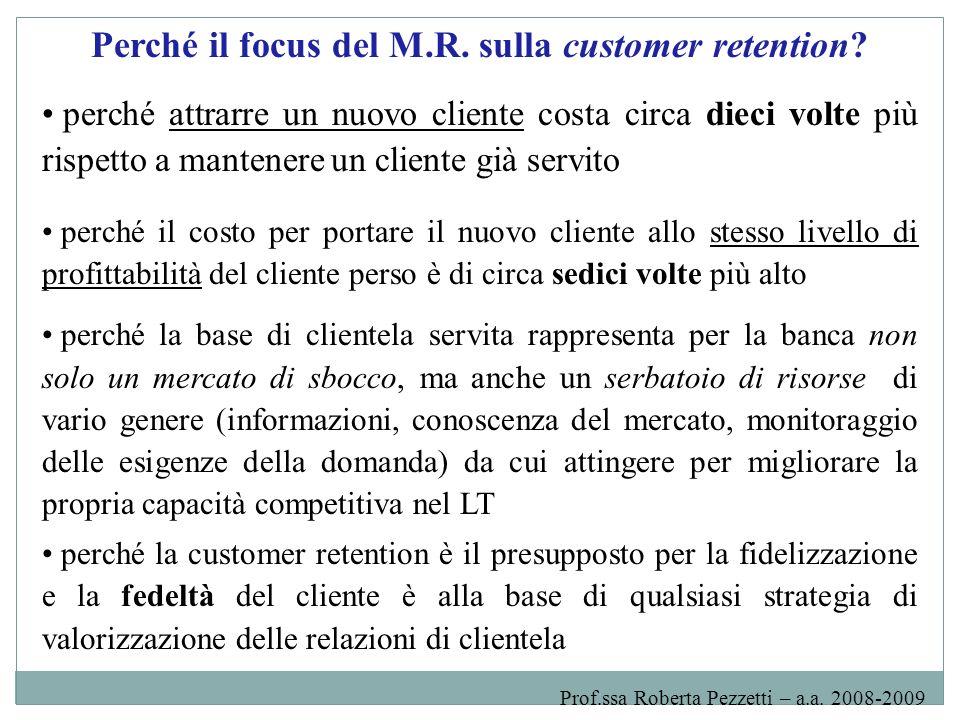 Perché il focus del M.R. sulla customer retention