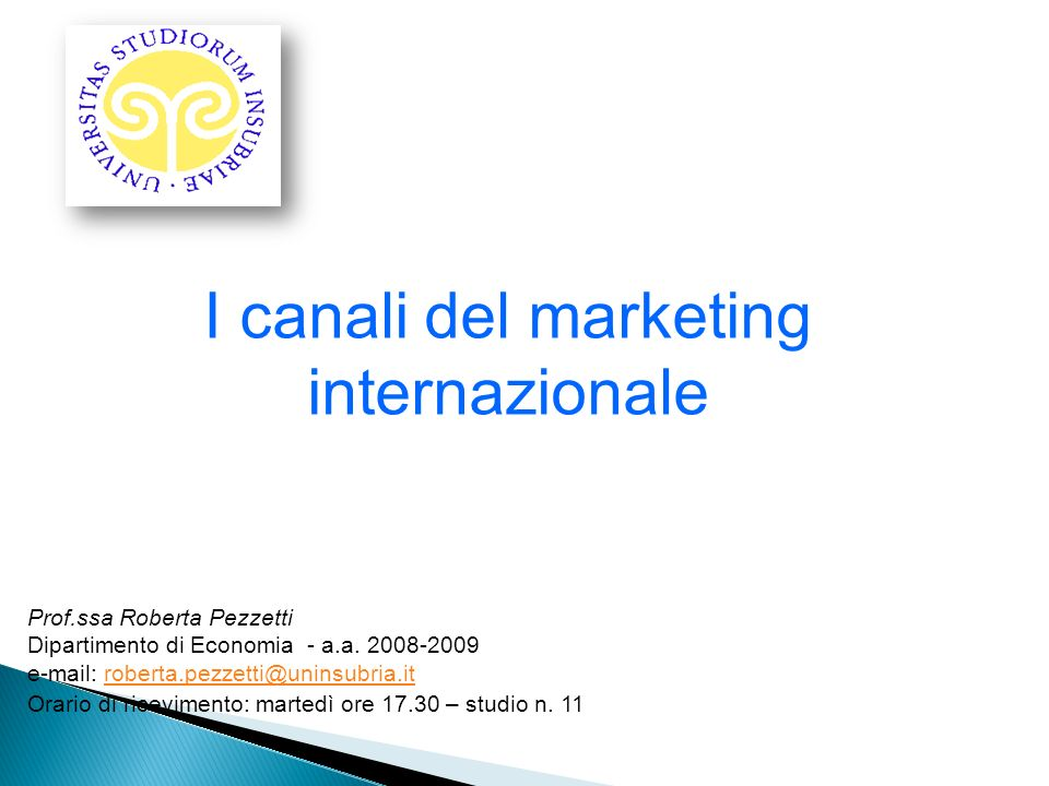 I canali del marketing internazionale