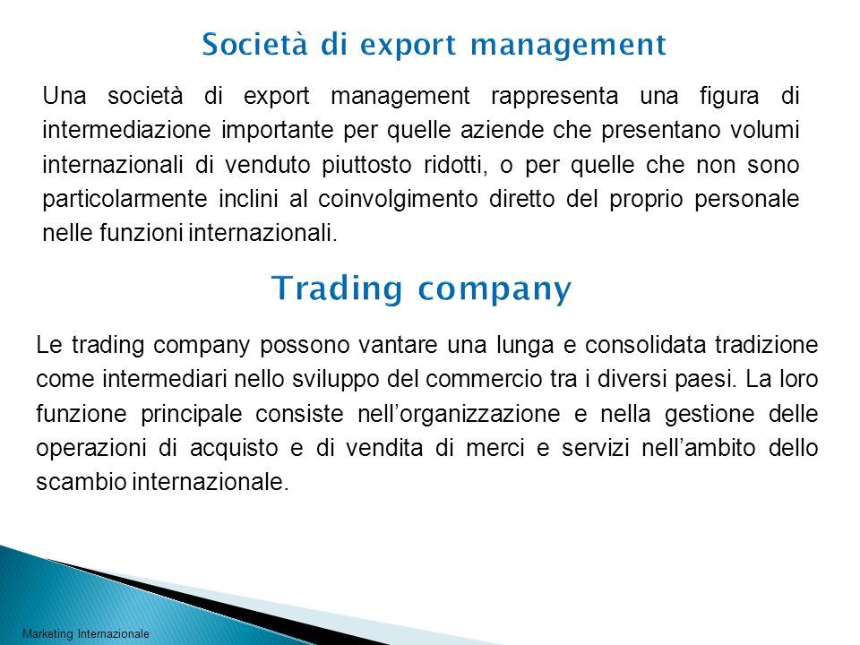 Società di export management