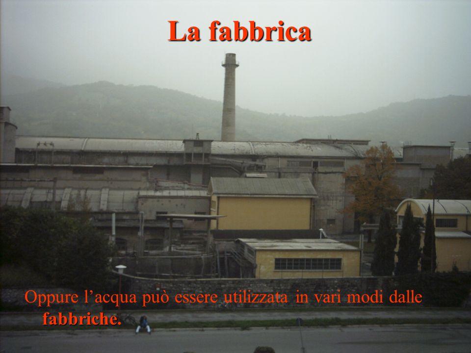 La fabbrica Oppure l'acqua può essere utilizzata in vari modi dalle fabbriche.