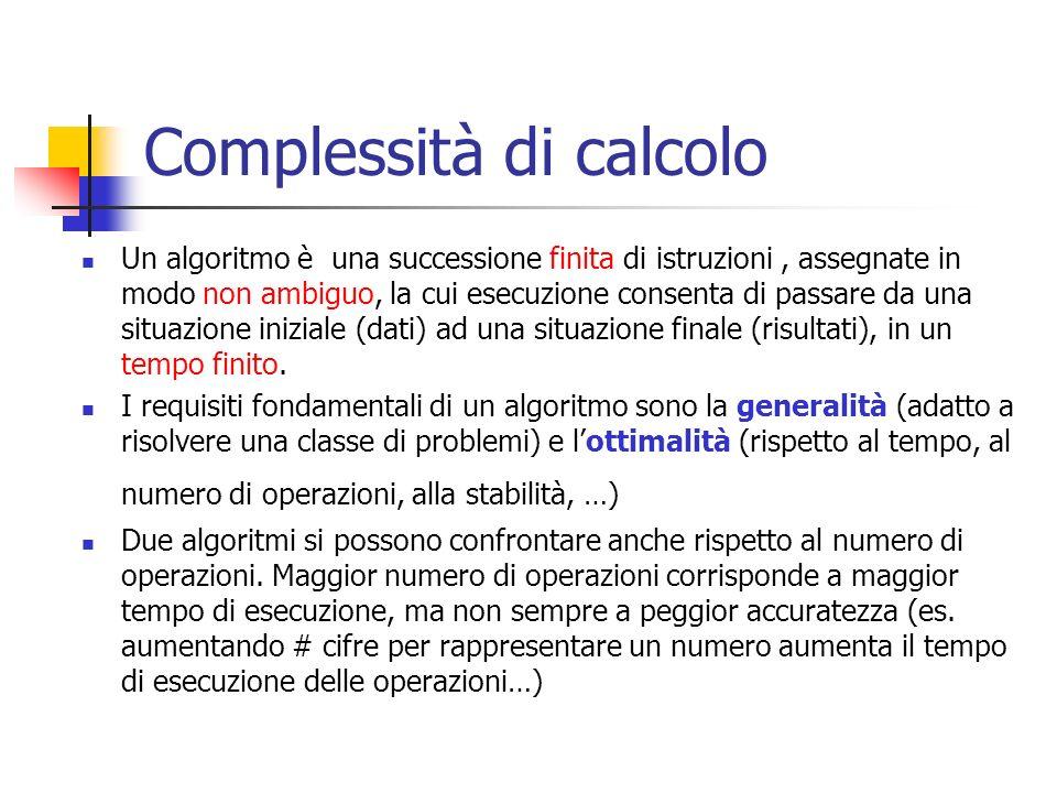Complessità di calcolo
