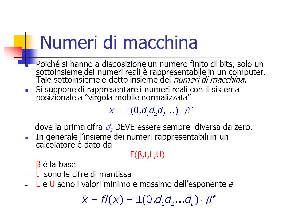 Numeri di macchina