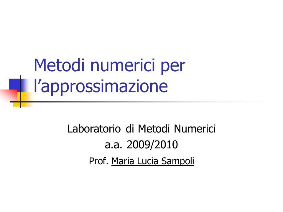 Metodi numerici per l'approssimazione