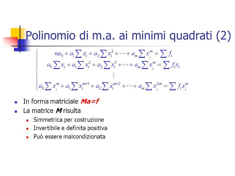 Polinomio di m.a. ai minimi quadrati (2)
