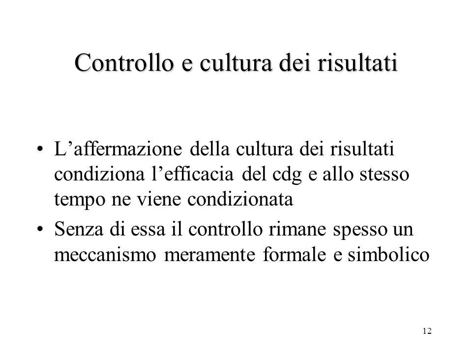 Controllo e cultura dei risultati