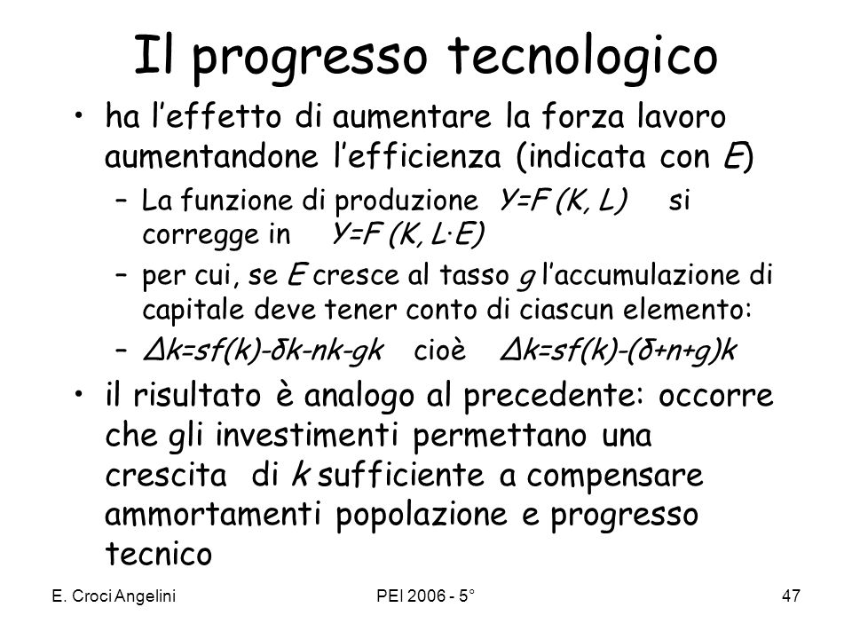 Il progresso tecnologico