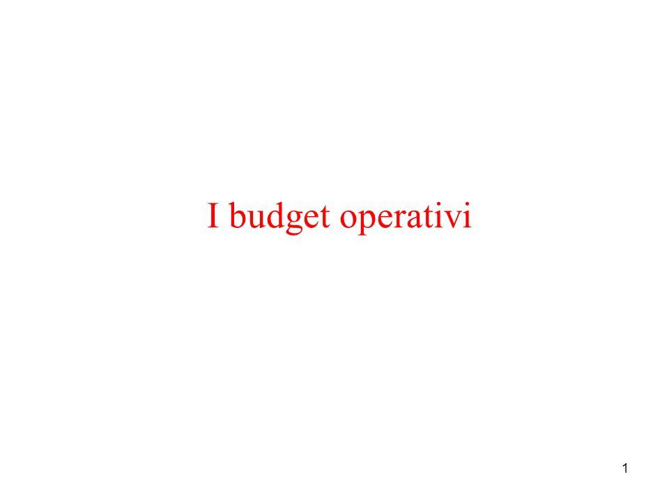 I budget operativi