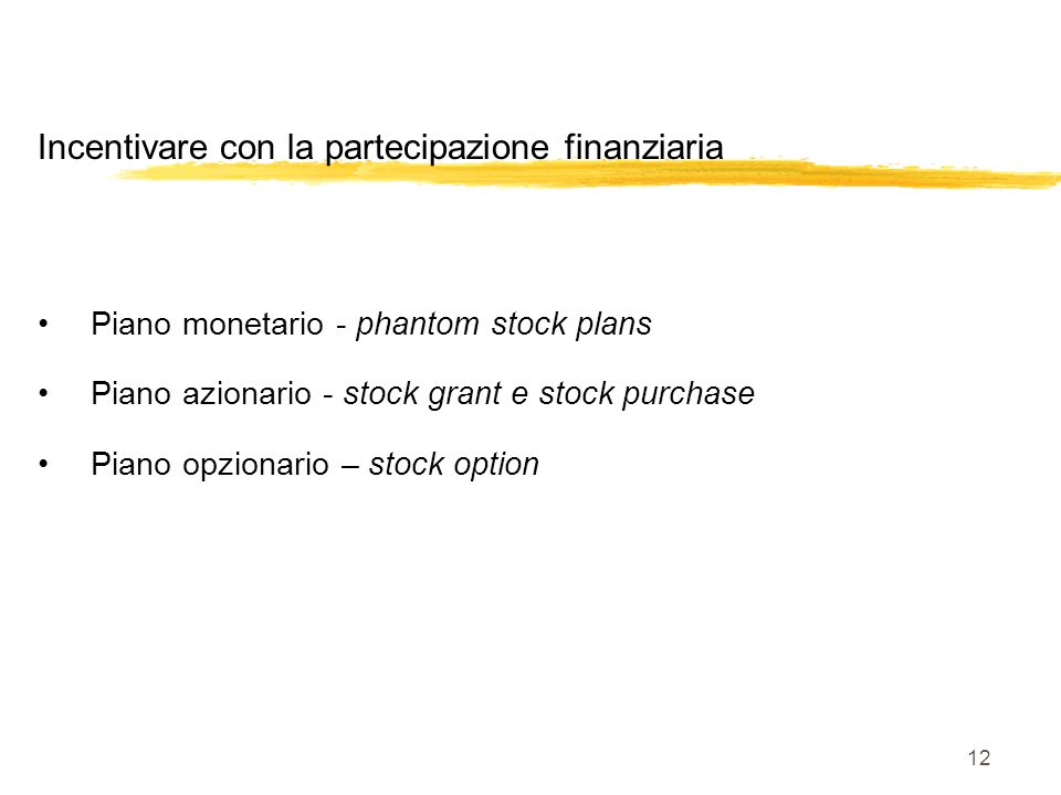 Dreptului la stock options plan