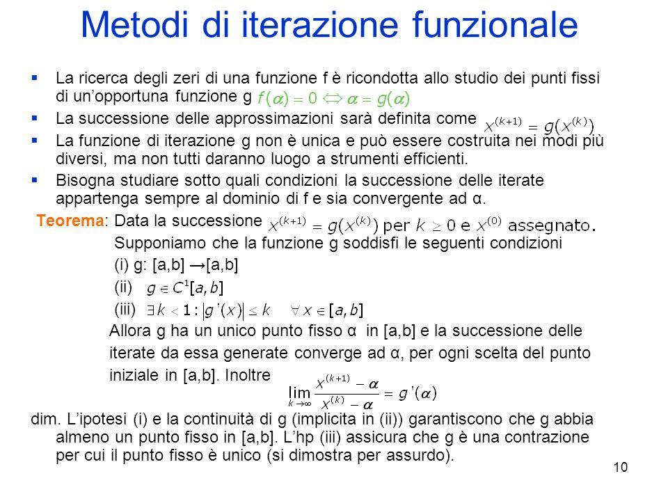Metodi di iterazione funzionale