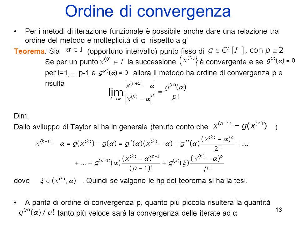 Ordine di convergenza