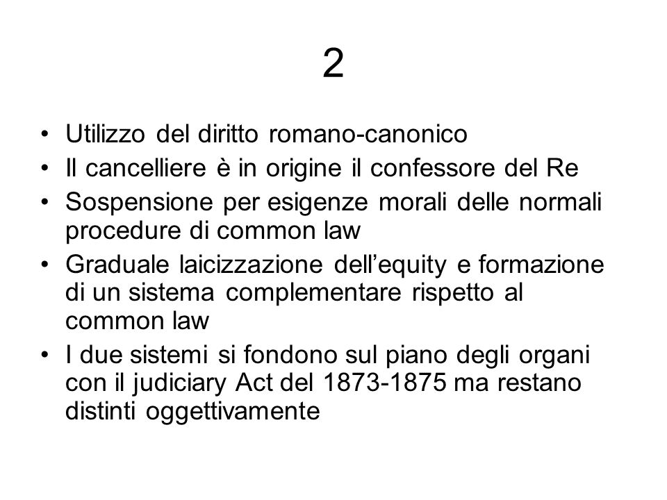 2 Utilizzo del diritto romano-canonico