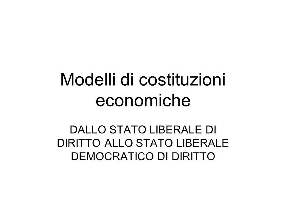 Modelli di costituzioni economiche