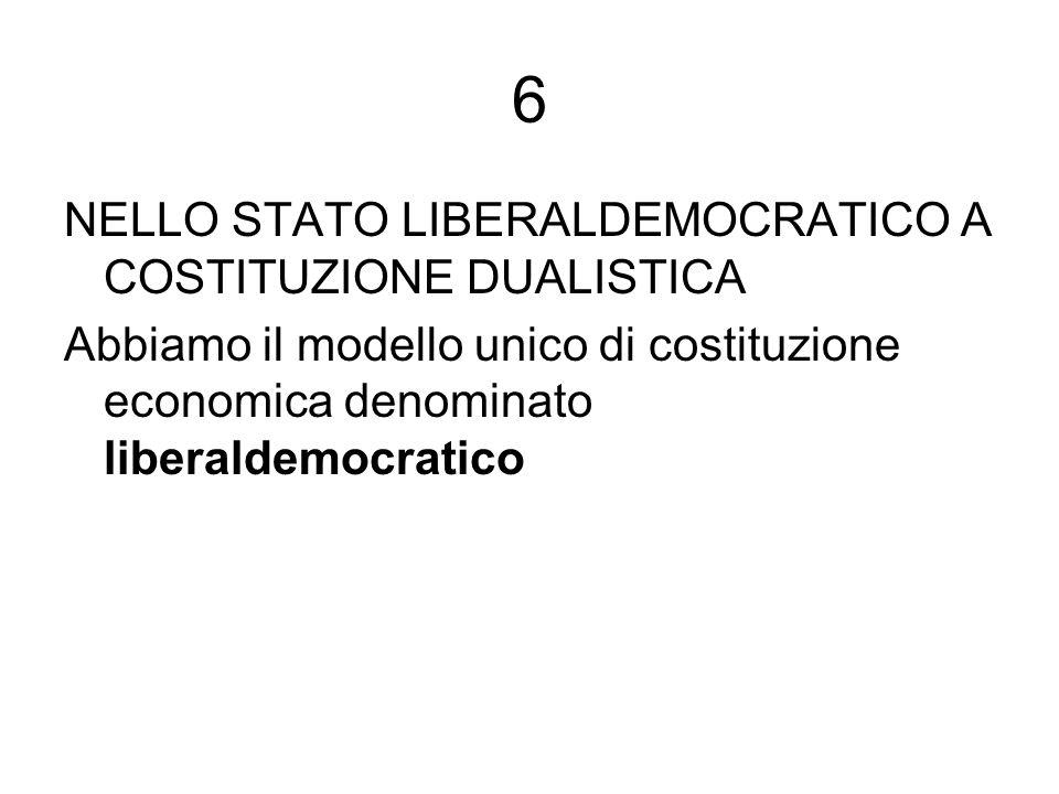 6 NELLO STATO LIBERALDEMOCRATICO A COSTITUZIONE DUALISTICA