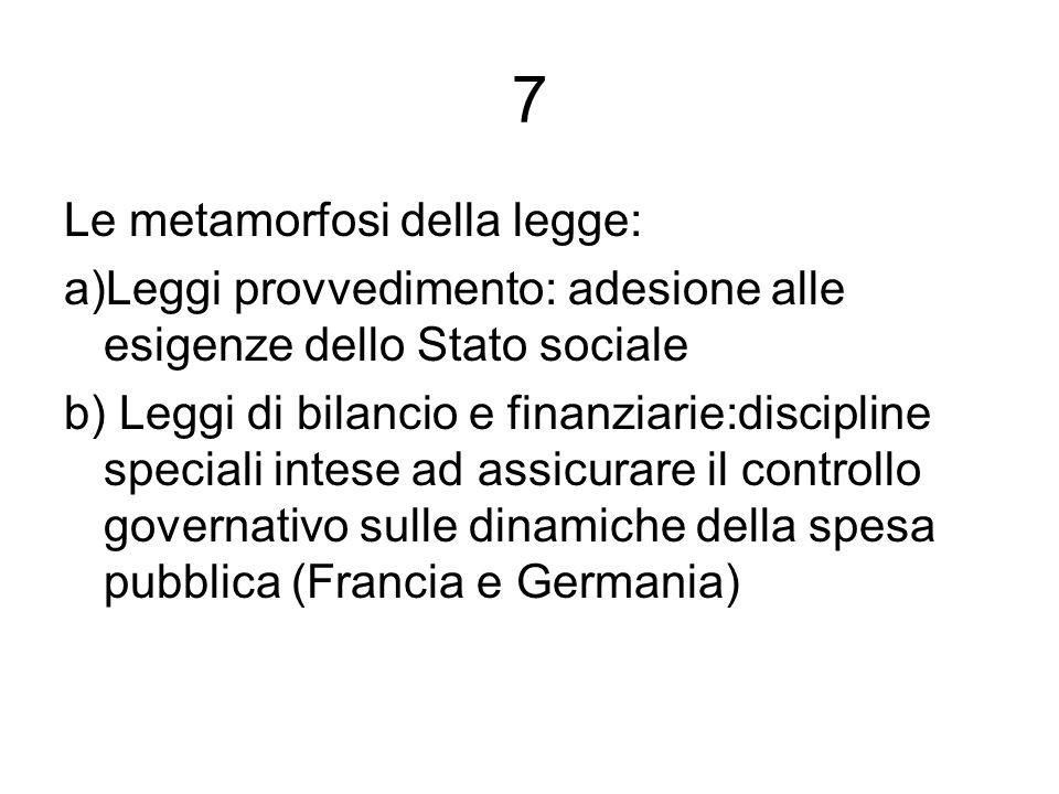 7 Le metamorfosi della legge:
