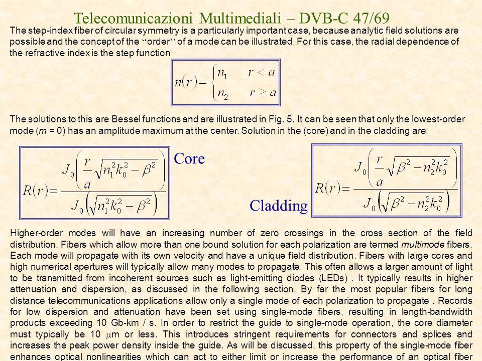 Telecomunicazioni Multimediali – DVB-C 47/69