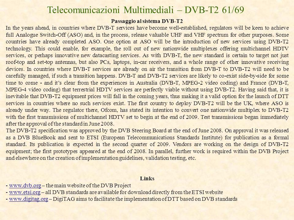 Passaggio al sistema DVB-T2