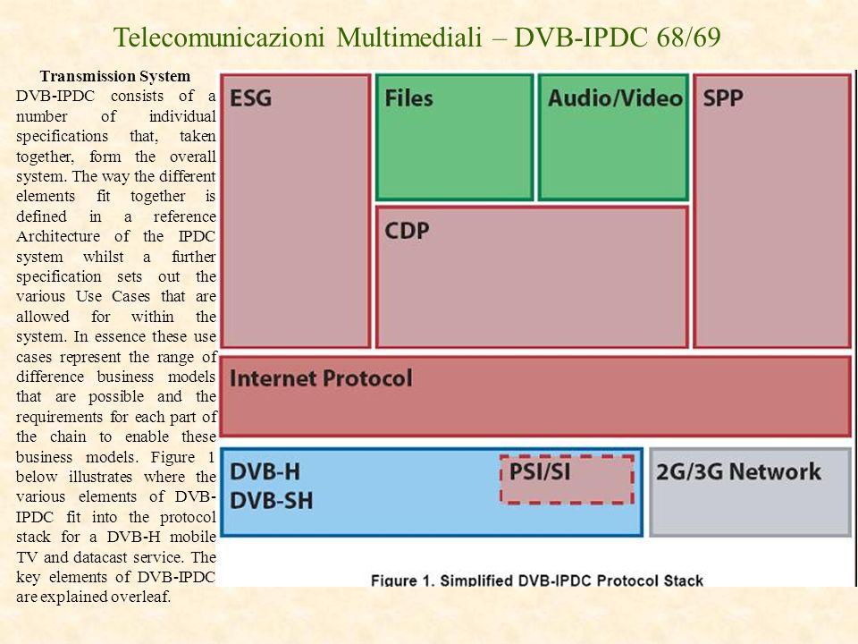 Telecomunicazioni Multimediali – DVB-IPDC 68/69