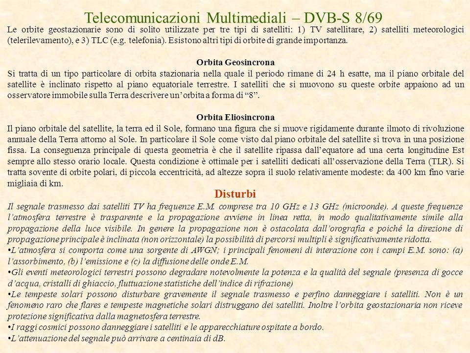Telecomunicazioni Multimediali – DVB-S 8/69