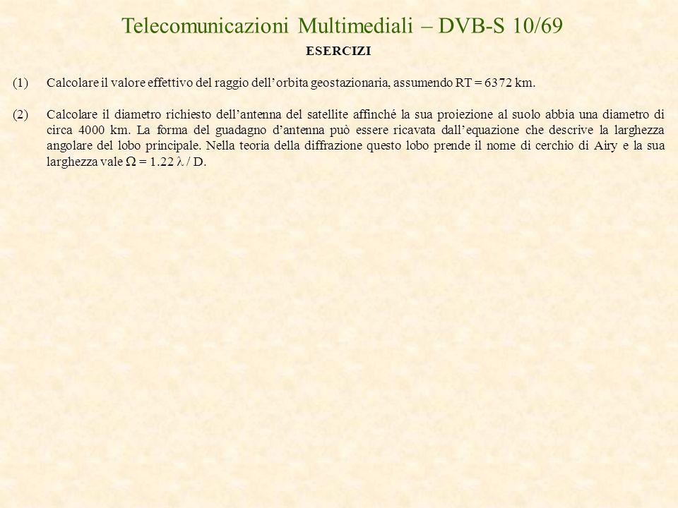 Telecomunicazioni Multimediali – DVB-S 10/69