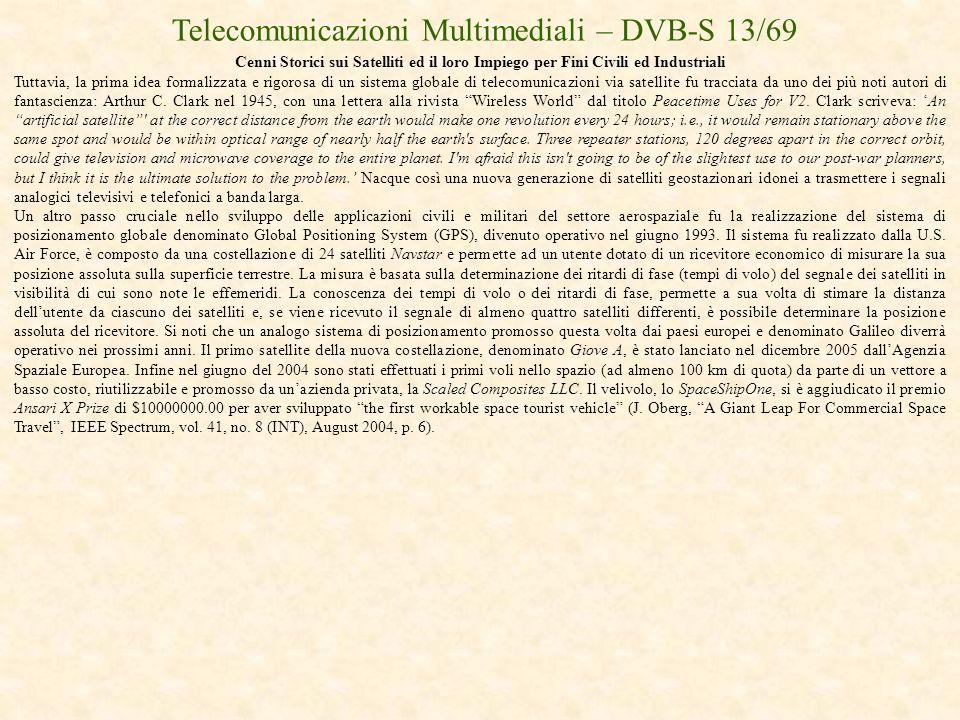 Telecomunicazioni Multimediali – DVB-S 13/69
